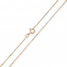 Wholesale Sterling Silver 925 Rose Gold Plated 8 Sided Snake DC 025 Chain 0.8mm - CH173 RGP