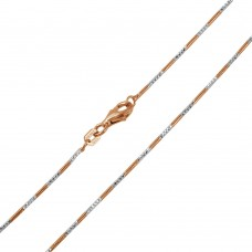 Wholesale Sterling Silver 925 Rose Gold Plated Snake Round 4DC 020 Chain 1.2mm - CH168 RGP