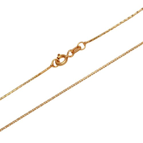 Wholesale Sterling Silver 925 Rose Gold Plated 8 Sided Snake DC 025 Chain 1mm - CH175 RGP