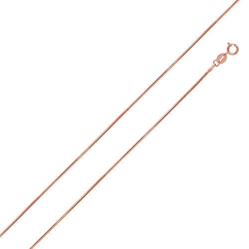 Wholesale Sterling Silver 925 Rose Gold Plated Snake 8 Sided 015 Chain 0.7mm - CH179 RGP