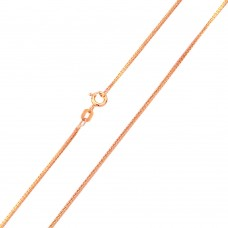 Wholesale Sterling Silver 925 Rose Gold Plated Square Sided Snake 025 Chain 0.9mm - CH152 RGP