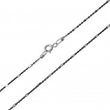 Wholesale Sterling Silver 925 Black Rhodium Plated Tube 2 DC Link B/W Chain - CH250 RH