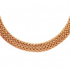 Wholesale Sterling Silver 925 Rose Gold Plated Braided Necklace - DIN00061RGP