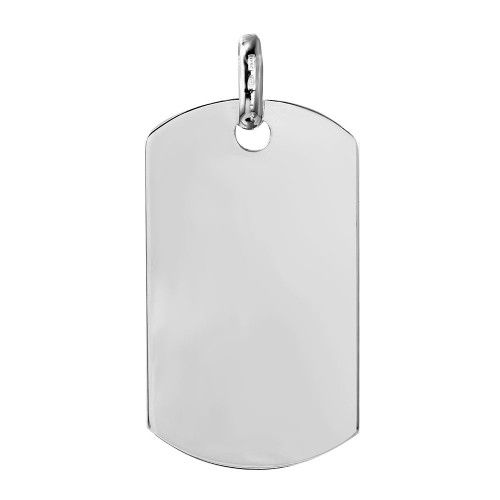Wholesale Sterling Silver 925 Plain Dogtag 50mm x 29mm - DOGTAG8