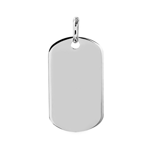 Wholesale Sterling Silver 925 Plain Dogtag 40mm x 23mm - DOGTAG9