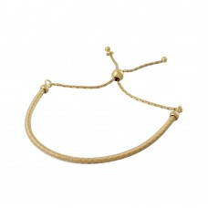 Wholesale Sterling Silver 925 Gold Plated Italian Lariat Bracelet - ECB00096GP
