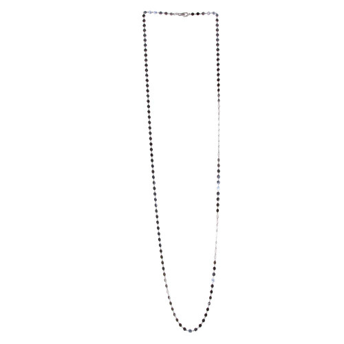 Wholesale Sterling Silver 925 Rhodium Plated Flat Circle Necklace - ECN00024RH