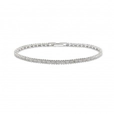 Wholesale Sterling Silver 925 Rhodium Plated Multiple Clear CZ Bracelet - GMB00001RH