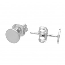 Wholesale Sterling Silver 925 Rhodium Plated Disc Stud Earrings - GME00077