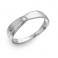 Mens Sterling Silver Rhodium Plated with Matte Finish Triangle Trio Ring - GMR00181RH