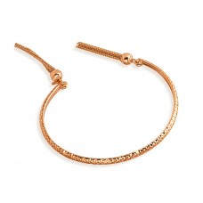 Wholesale Sterling Silver 925 Rose Gold Plated DC Cuff Bracelet with Dangling Tassel - ITB00214RGP