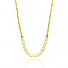 **Closeout** Wholesale Sterling Silver 925 Gold Plated Mesh Necklace Filled with CZ - ITN00024GP