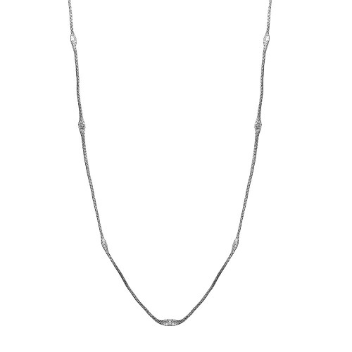 Wholesale Sterling Silver 925 Black Rhodium Plated Mystical Chain Italian Necklace - ITN00051BLK