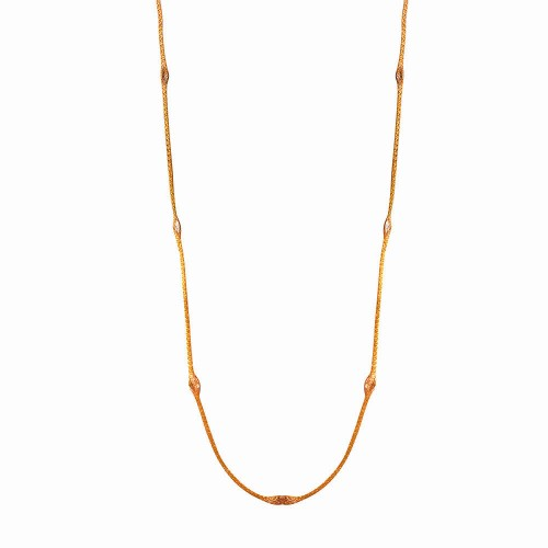 Wholesale Sterling Silver 925 Rose Gold Plated Mystical Chain Italian Necklace - ITN00051RGP