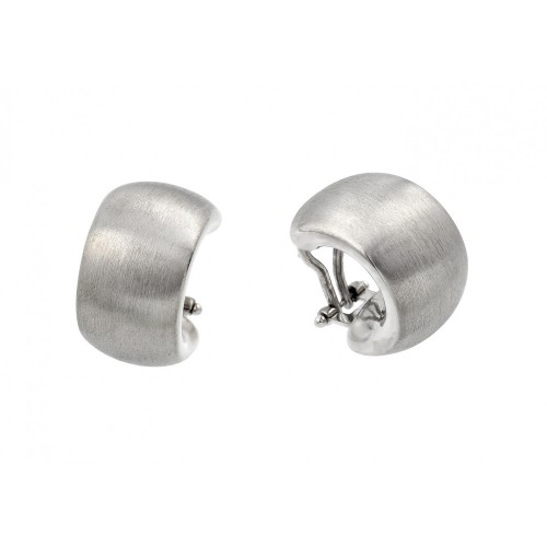 Wholesale Sterling Silver 925 Rhodium Plated Crescent Stud Earrings - ECE008RH