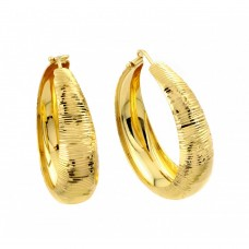 Wholesale Sterling Silver 925 Gold Plated Hoop Earrings - ITE00080GP