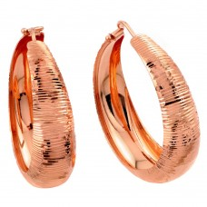 Wholesale Sterling Silver 925 Rose Gold Plated Hoop Earrings - ITE00080RGP