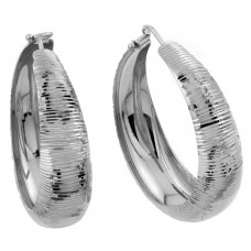 Wholesale Sterling Silver 925 Gold Plated Hoop Earrings - ITE00080RHD