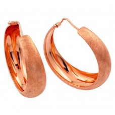 Wholesale Sterling Silver 925 Rose Gold Plated Hoop Earrings - ITE00081RGP