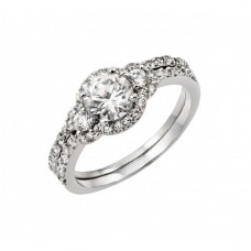 Wholesale Sterling Silver 925 Rhodium Plated Past Present Future Cluster Ring - BGR00896
