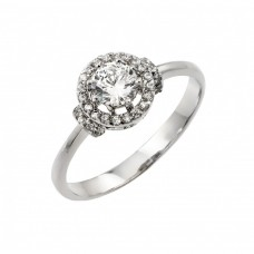 Wholesale Sterling Silver 925 Rhodium Plated Cluster Ring - BGR00897