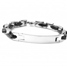 Wholesale Stainless Steel Two Tone ID Bracelet - SSB00256