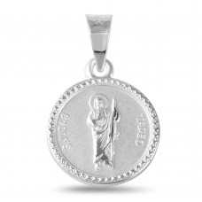 Wholesale Sterling Silver 925 High Polished Saint Jude Medallion - JCA013-5