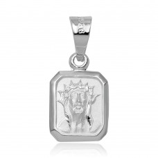 Wholesale Sterling Silver 925 High Polished Jesus Face Charm Pendant - JCA002-4