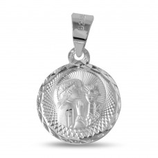 Wholesale Sterling Silver 925 High Polished DC Communion Medallion For Girl - JCA034-9