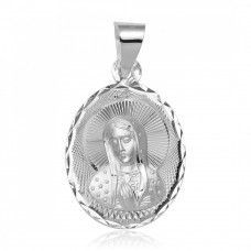 Wholesale Sterling Silver 925 High Polished Mother Mary DC Charm Pendant - JCA042-2