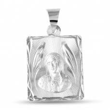 Wholesale Sterling Silver 925 High Polished DC Guadalupe Medallion - JCA096-2