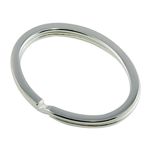 Wholesale Sterling Silver 925 High Polished Oval Keychain - KEYCHAIN17