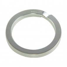Sterling Silver High Polished Circle Keychain - KEYCHAIN19