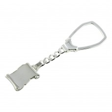 Sterling Silver High Polished Scroll Keychain - KEYCHAIN22
