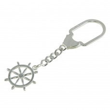 Sterling Silver High Polished Anchor Keychain - KEYCHAIN27