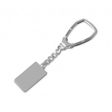 Sterling Silver High Polished Rectangle Key Chain - KEYCHAIN9