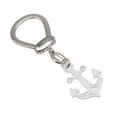 Sterling Silver Rhodium Plated Anchor Keychain - KEYCHAIN28