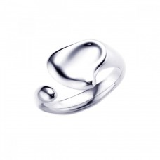 **Closeout** Wholesale Sterling Silver 925 Rhodium Plated Liquid Like Ring - STR00183