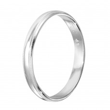 Sterling Silver High Polished Bordered Band Ring - RING04