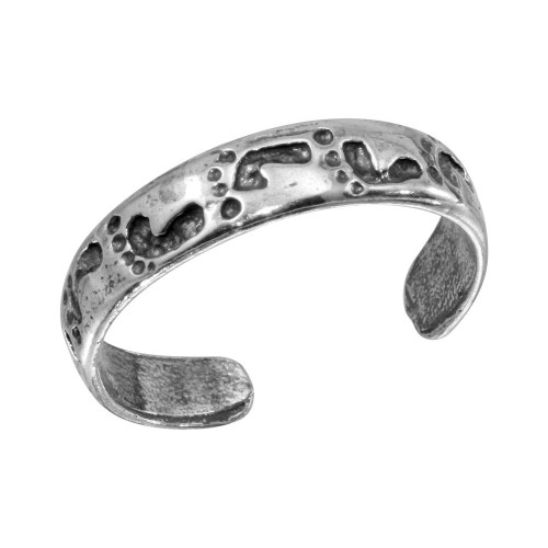 Wholesale Sterling Silver 925 Footprint Adjustable Toe Ring - TR120-A