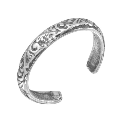 Wholesale Sterling Silver 925 Ornate Designed Toe Ring - TR146-A