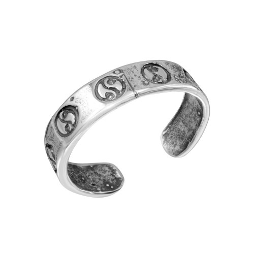 Wholesale Sterling Silver 925 Multi Yin-Yang Design Toe Ring - TR157-A