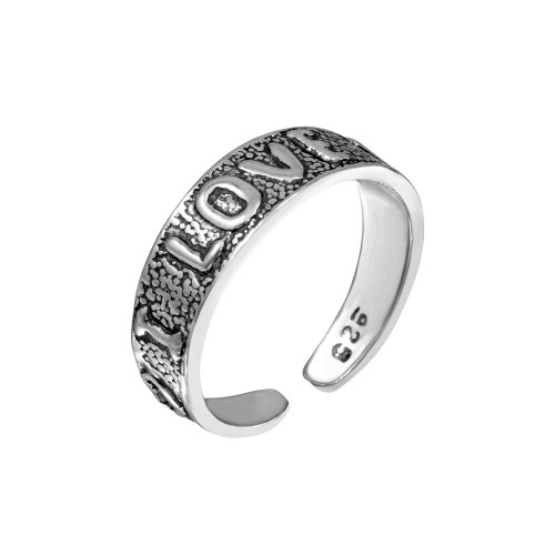 Wholesale Sterling Silver 925 Engraved I Love You Toe Ring - TR165-A