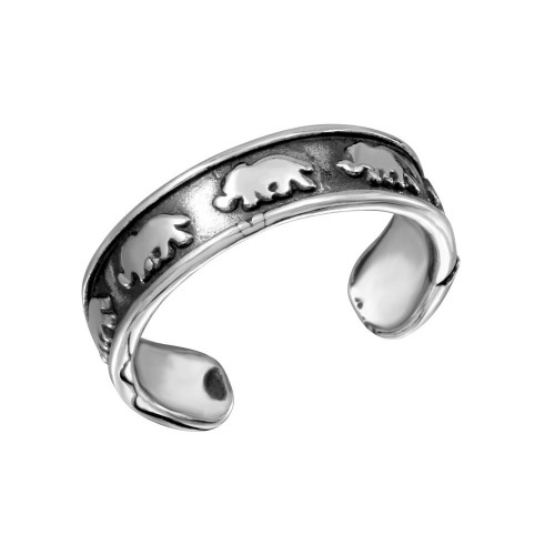 Wholesale Sterling Silver 925 Elephant Adjustable Toe Ring - TR169-A
