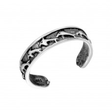 Wholesale Sterling Silver 925 Dolphin Adjustable Toe Ring - TR180-A