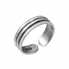 Sterling Silver  3 Row Adjustable Toe Ring - TR187