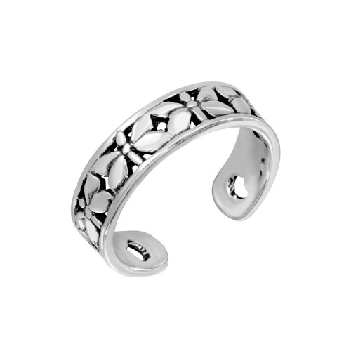 Wholesale Sterling Silver 925 Butterfly Adjustable Toe Ring - TR195-A