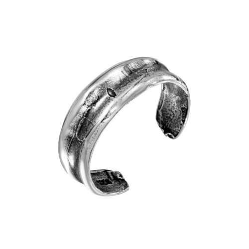 Wholesale Sterling Silver 925 Oxidized Simple Adjustable Toe Ring - TR228-A