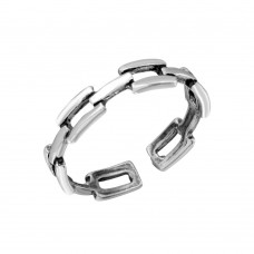 Wholesale Sterling Silver 925 Chain Link Adjustable Toe Ring - TR239-A