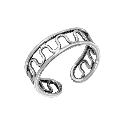 Wholesale Sterling Silver 925 Wave Wire Design Toe Ring - TR244-A